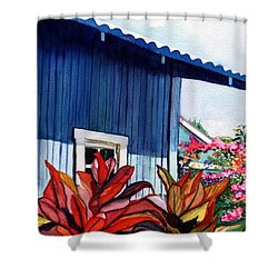 Hanapepe Town Shower Curtain by Marionette Taboniar