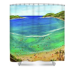 Hanauma Bay Hawaiian #336 Shower Curtain by Donald k Hall