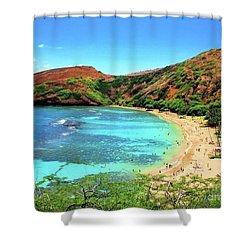 Hanauma Bay Nature Preserve Shower Curtain by Kristine Merc