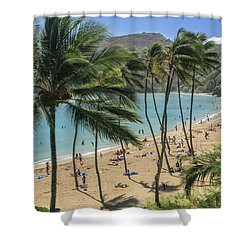 Shower Curtain featuring the photograph Hanauma Bay by Steven Sparks