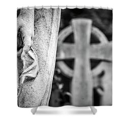 Hand And Cross Shower Curtain