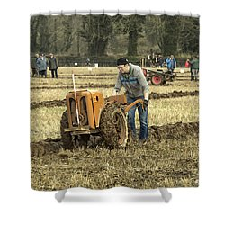 Shower Curtain featuring the photograph Hand Held Tractor Plough by Roy McPeak