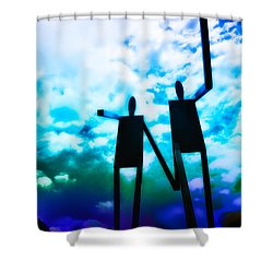 Hand In Hand Shower Curtain by Bill Cannon