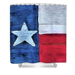 Hand Painted Texas Flag Shower Curtain