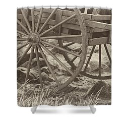 Shower Curtain featuring the photograph Handcart by Marie Leslie