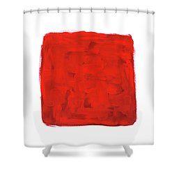 Handmade Vibrant Abstract Oil Painting Shower Curtain by GoodMood Art