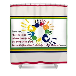 Handprints For Jesus Shower Curtain