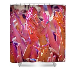 Shower Curtain featuring the photograph Hands Up by Okan YILMAZ