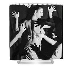 Hands Upon Me Shower Curtain by Jaeda DeWalt
