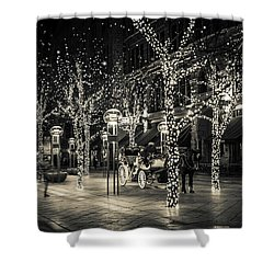 Handsome Cab In Monochrome Shower Curtain