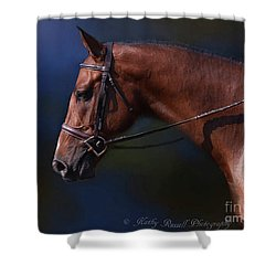 Handsome Profile Shower Curtain by Kathy Russell