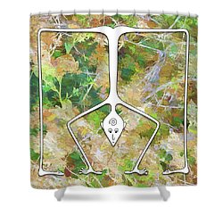 Handstand Shower Curtain
