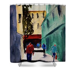 Hang Ah Alley1 Shower Curtain by Tom Simmons