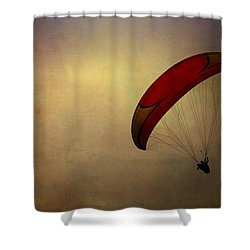 Hang Gliding In Peru Shower Curtain