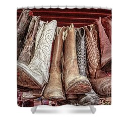 Hangin' Boots Shower Curtain