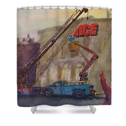 Hanging Ace #1 Shower Curtain