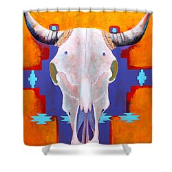 Hanging Around Shower Curtain by M Diane Bonaparte