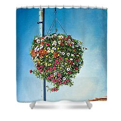 Hanging Basket Shower Curtain