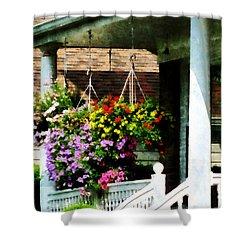 Hanging Baskets Shower Curtain by Susan Savad