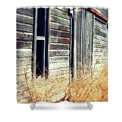Shower Curtain featuring the photograph Hanging By A Bolt by Julie Hamilton