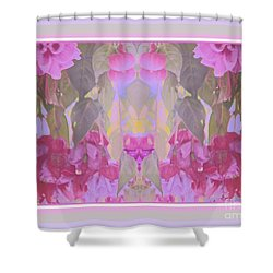 Hanging Flowers With Border Shower Curtain