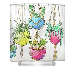 Hanging Garden Shower Curtain by Whitney Morton