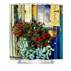 Shower Curtain featuring the digital art Hanging Gardens by Pennie  McCracken