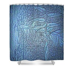 Hanging In Blue Shower Curtain by Pamela Blizzard