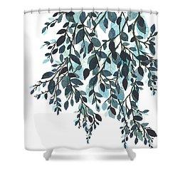Hanging Leaves II Shower Curtain by Garima Srivastava