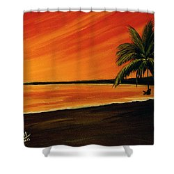 Hanging Out At The Beach #153 Shower Curtain by Donald k Hall