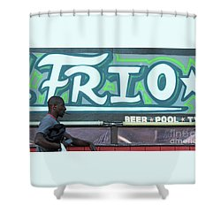 Shower Curtain featuring the photograph Hanging Out On Frio Street by Joe Jake Pratt