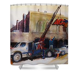 Hanging Red Ace #2 Shower Curtain