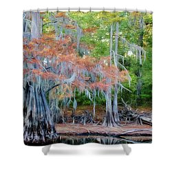 Shower Curtain featuring the photograph Hanging Rust by Lana Trussell