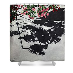 Hanging Shadows - Floral Shower Curtain