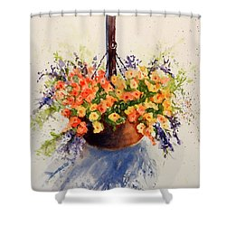 Hanging Spring Basket Shower Curtain