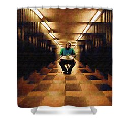Shower Curtain featuring the photograph Hanging In The Balance by Mario Carini