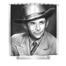 Hank Williams Shower Curtain