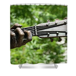Hank Williams Hand And Guitar Shower Curtain