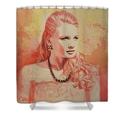 Hannah, Study In Red Shower Curtain