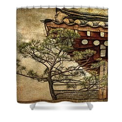 Hanok And Pine Shower Curtain