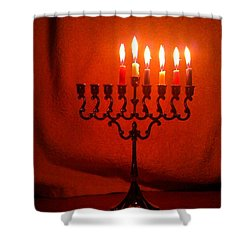 Hanukkah On Fifth Day Shower Curtain