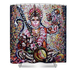 Hanuman - Ecstatic Joy In Rama Kirtan Shower Curtain
