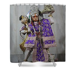 Hanuman Ji, Neem Karoli Baba, Vrindavan Shower Curtain by Jennifer Mazzucco