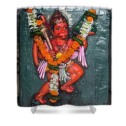 Hanuman Ji, Somewhere Near Ganeshpuri Shower Curtain by Jennifer Mazzucco