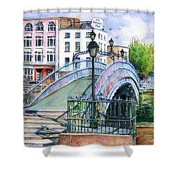 Ha'penny Bridge Dublin Shower Curtain