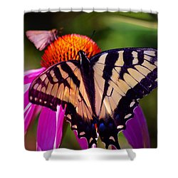 Happiness In Our Own Gardens... Shower Curtain