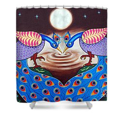 Shower Curtain featuring the painting Happiness In Sharing by Ragunath Venkatraman
