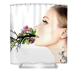 Happiness Is A State Of Mind Shower Curtain