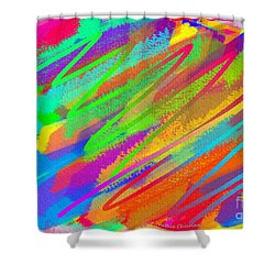 Happiness Is.... Shower Curtain by Kathie Chicoine