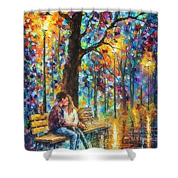 Happiness   Shower Curtain by Leonid Afremov
